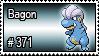 371 - Bagon by PokeStampsDex