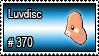 370 - Luvdisc by PokeStampsDex