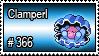 366 - Clamperl by PokeStampsDex