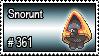 361 - Snorunt