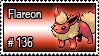 136 - Flareon by PokeStampsDex