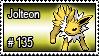 135 - Jolteon by PokeStampsDex