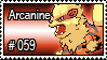 059 - Arcanine by PokeStampsDex