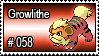 058 - Growlithe by PokeStampsDex
