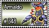 348 - Armaldo by PokeStampsDex