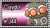 344 - Claydol by PokeStampsDex