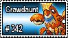 342 - Crawdaunt by PokeStampsDex