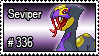 336 - Seviper by PokeStampsDex