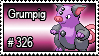 326 - Grumpig by PokeStampsDex