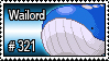 321 - Wailord by PokeStampsDex