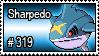 319 - Sharpedo by PokeStampsDex