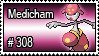 308 - Medicham by PokeStampsDex