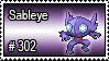 302 - Sableye by PokeStampsDex