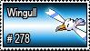 278 - Wingull by PokeStampsDex