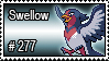 277 - Swellow by PokeStampsDex