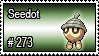273 - Seedot by PokeStampsDex