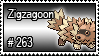 263 - Zigzagoon by PokeStampsDex