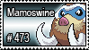 473 - Mamoswine by PokeStampsDex