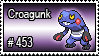 453 - Croagunk by PokeStampsDex