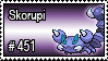 451 - Skorupi by PokeStampsDex