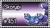 451 - Skorupi by PokeStampsDex