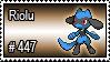 447 - Riolu by PokeStampsDex