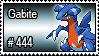 444 - Gabite by PokeStampsDex