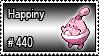440 - Happiny by PokeStampsDex