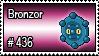 436 - Bronzor by PokeStampsDex