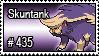 435 - Skuntank by PokeStampsDex