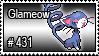 431 - Glameow by PokeStampsDex