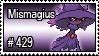 429 - Mismagius by PokeStampsDex