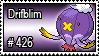 426 - Drifblim by PokeStampsDex
