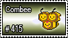 415 - Combee by PokeStampsDex