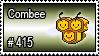 415 - Combee by PokeStampsDex