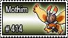 414 - Mothim by PokeStampsDex