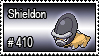 410 - Shieldon by PokeStampsDex