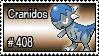 408 - Cranidos by PokeStampsDex