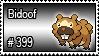 399 - Bidoof by PokeStampsDex