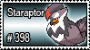 398 - Staraptor by PokeStampsDex