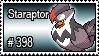398 - Staraptor by PokeStampsDex