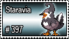 397 - Staravia by PokeStampsDex