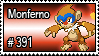 391 - Monferno by PokeStampsDex