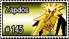 145 - Zapdos by PokeStampsDex