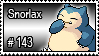 143 - Snorlax by PokeStampsDex