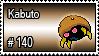 140 - Kabuto by PokeStampsDex