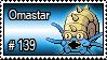 139 - Omastar by PokeStampsDex