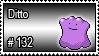 132 - Ditto by PokeStampsDex