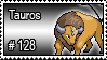 128 - Tauros by PokeStampsDex