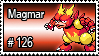 126 - Magmar by PokeStampsDex